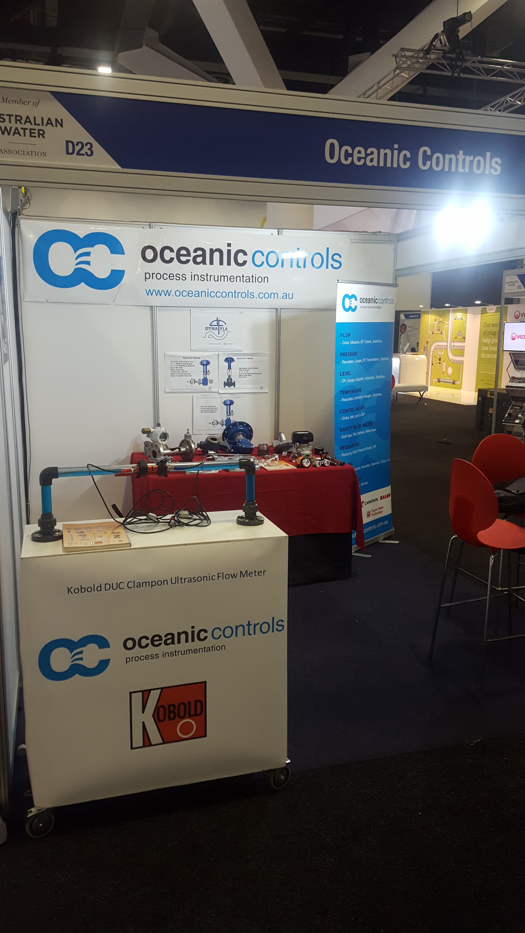 Our stand at the 2017 Ozwater Trade Exhibition